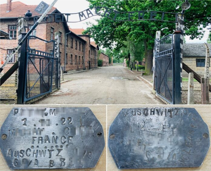 obóz Auschwitz Birkenau nieśmiertelnik identyfikator