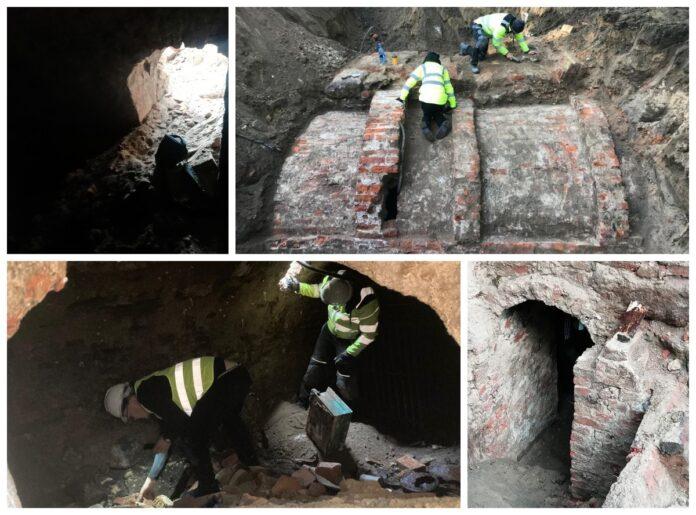 Przedwojenne piwnice odkryte w Słupsku