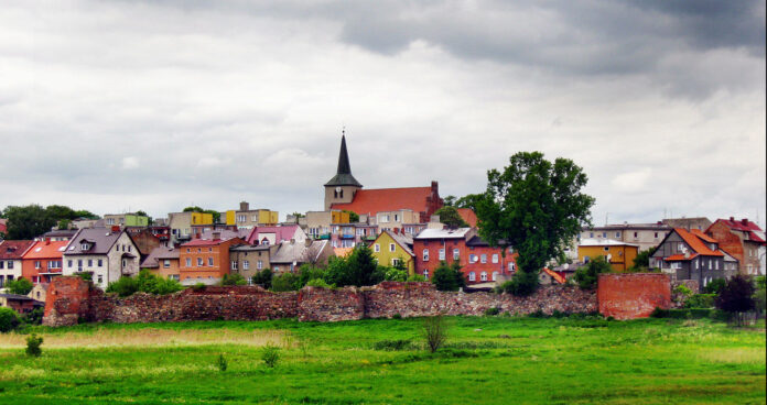 Panorama Skarszew wraz z obwarowaniami