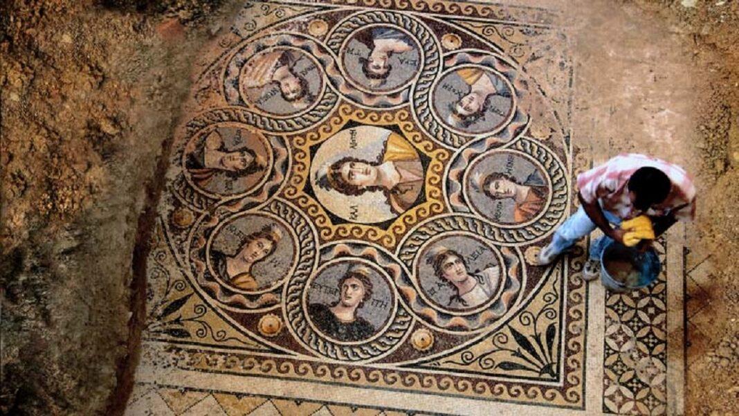 niezwykla antyczna mozaika miasto Zenguma