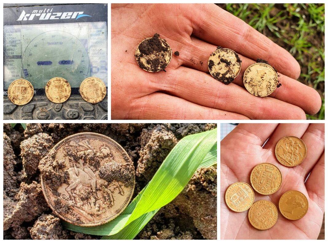 skarb monety suwereny złoto