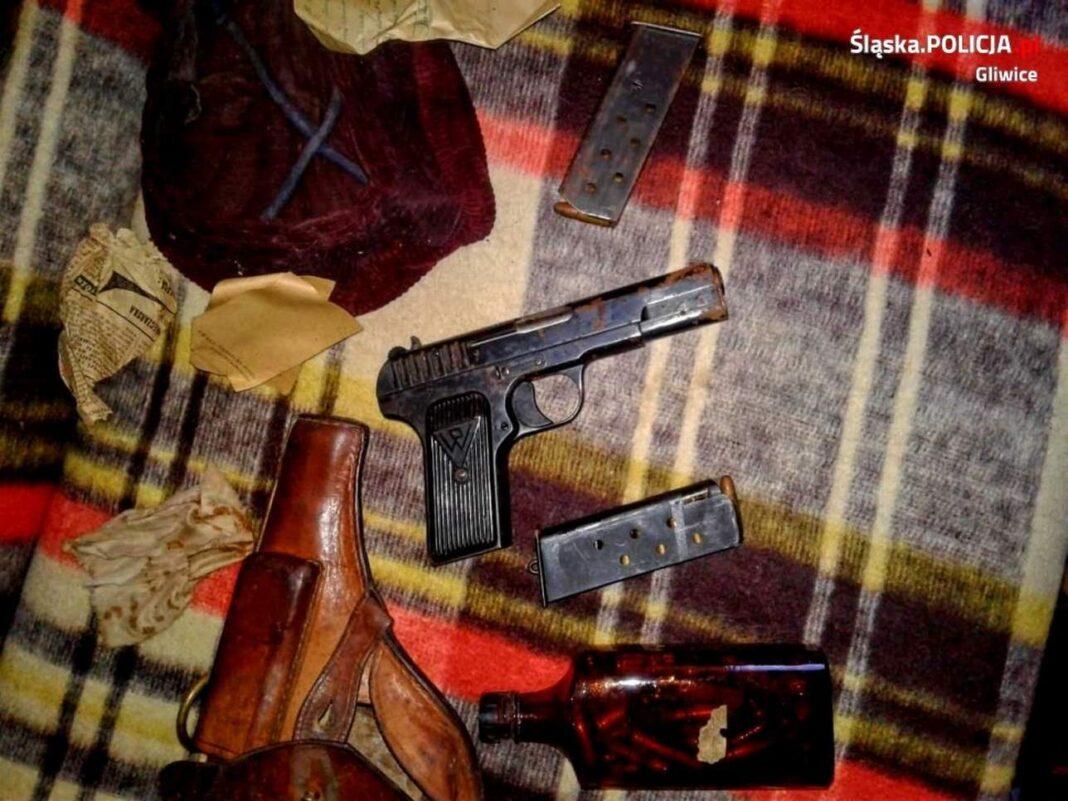 pistolet TT znaleziony w Gliwicach