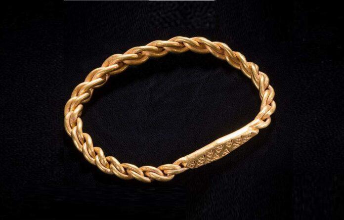 złota bransoleta wikingów