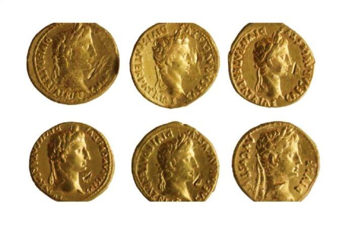 Złote rzymskie monety aureusy