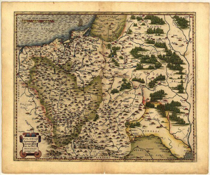 Europa Polska Poland Masovia Silesia Pomerania map 1570