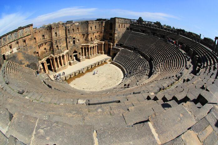 Starożytny teatr Borsa w Syrii