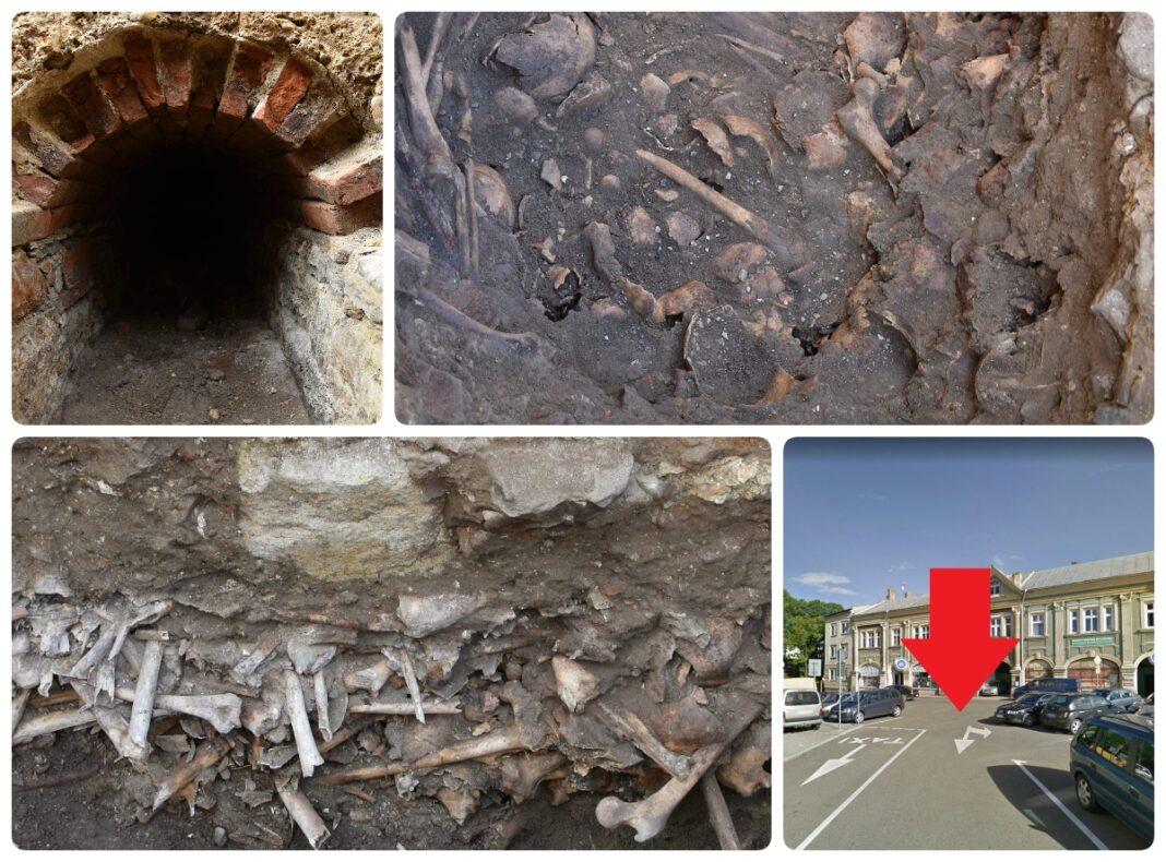 Tunel i cmentarz po dawnym klasztorze odkryty na placu Żwirki i Wigury w Jaśle