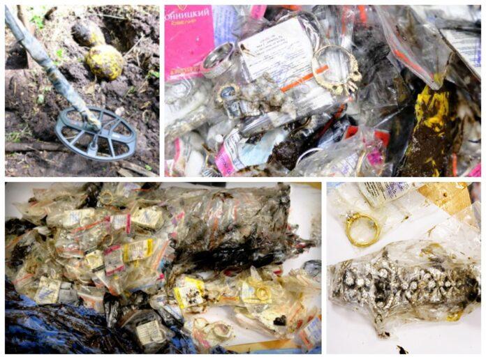 Biżuteria warta 160 mln rubli odkryta w plastikowych workach w lesie