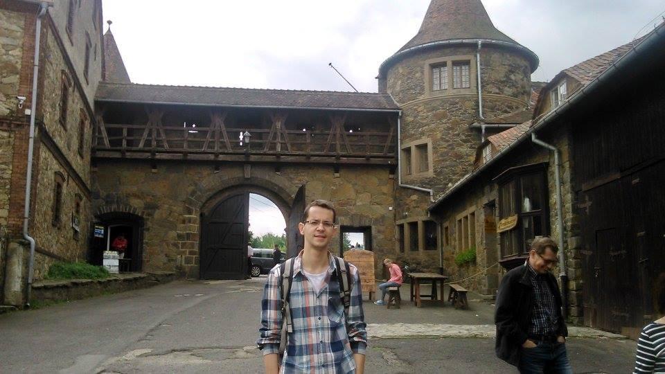 Amadeusz Majtka na zamku Czocha