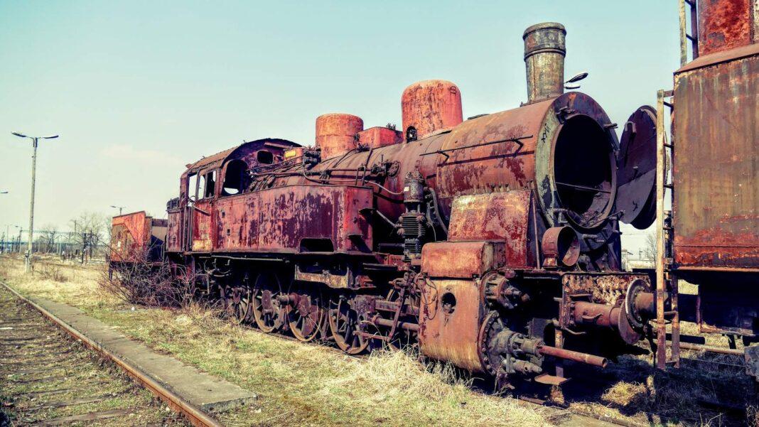 stara lokomotywa w Płaszowie